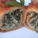 Spinach, Mushroom and Ricotta Stuffed Crêpe Bake