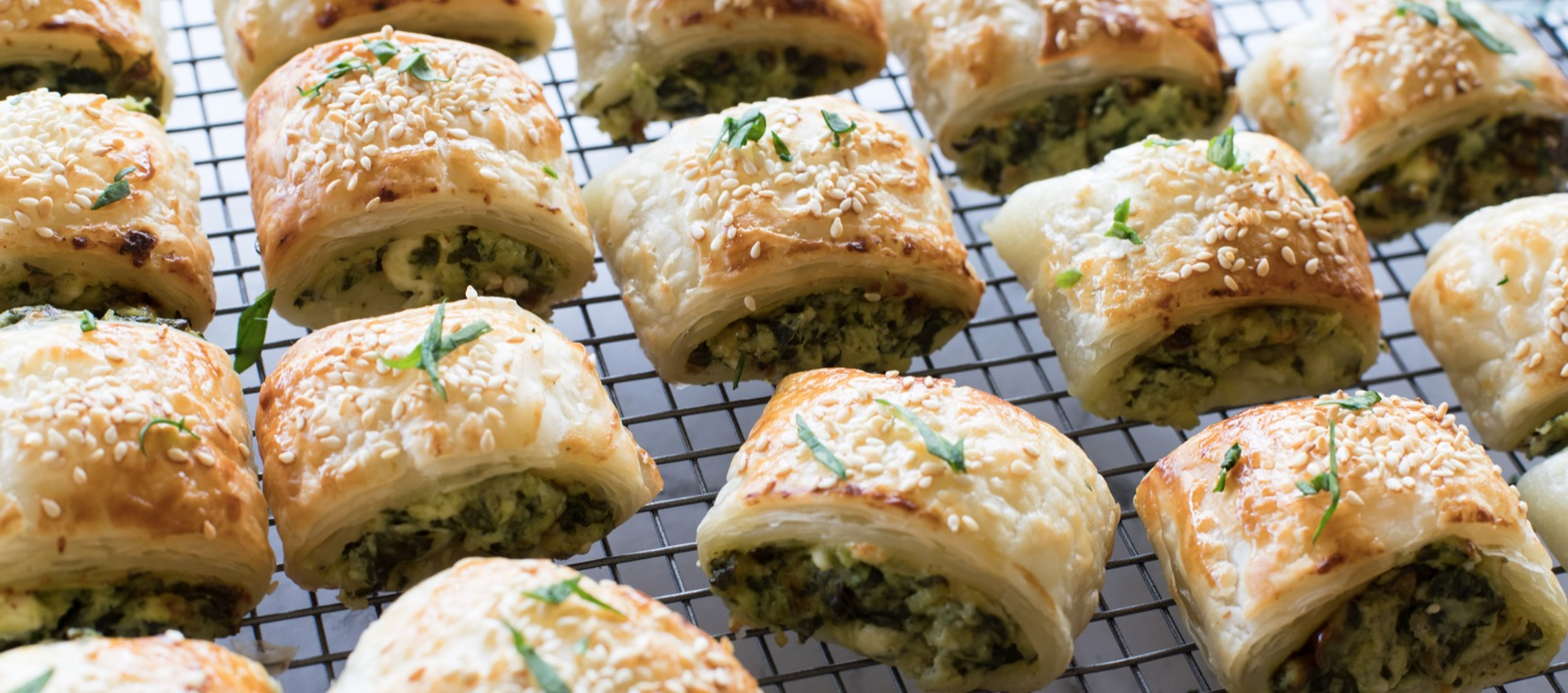 Baked Cheese and Spinach Rolls