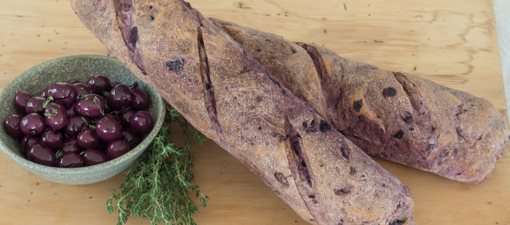 Olive and Thyme Baguettes