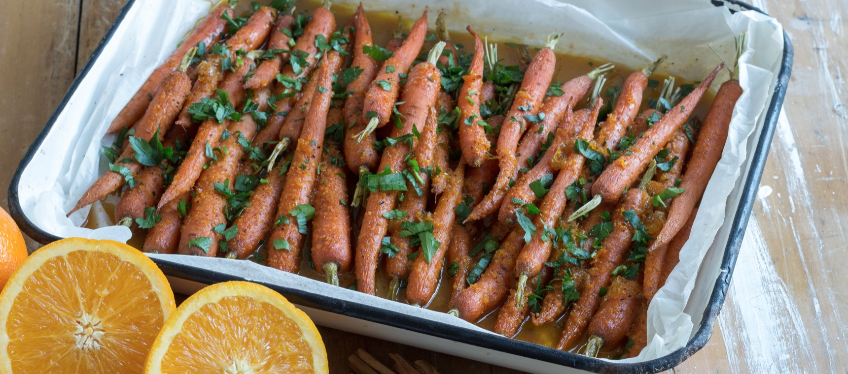 Roasted Orange Cinnamon Carrots