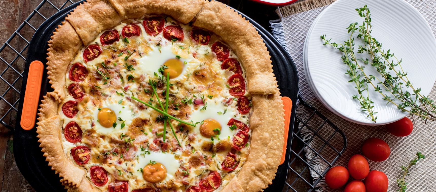Bacon, Egg and Gruyère Breakfast Tart