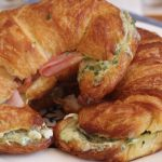 Baked Ham and Herbed Mascarpone Croissants