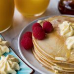 Hotcakes with Whipped Butter and Maple Syrup