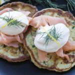 Ricotta and Dill Patties with Smoked Salmon