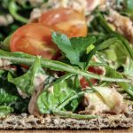 Chilli Tuna, Rocket and Tomato Crackers