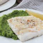 Grilled Fish with Mint Peas