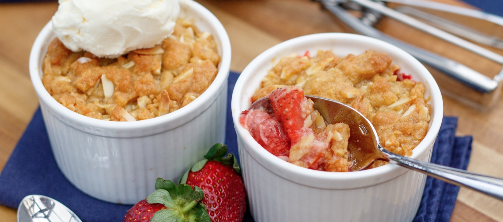 Individual Orange Strawberry Crumbles
