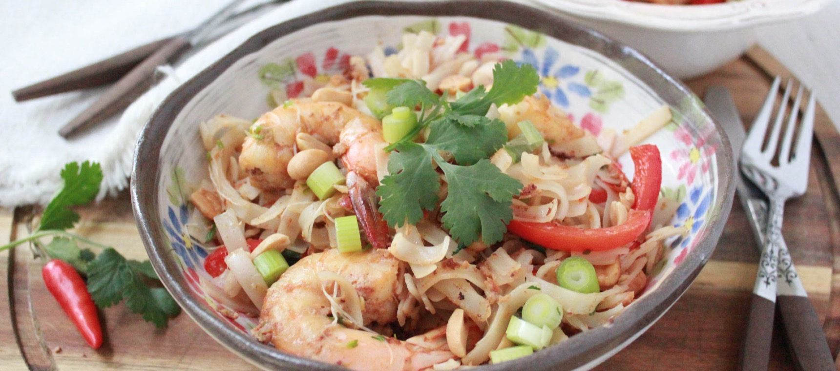 Prawn Pad Thai For Two