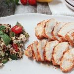 Seasoned Chicken with Warm Quinoa Salad