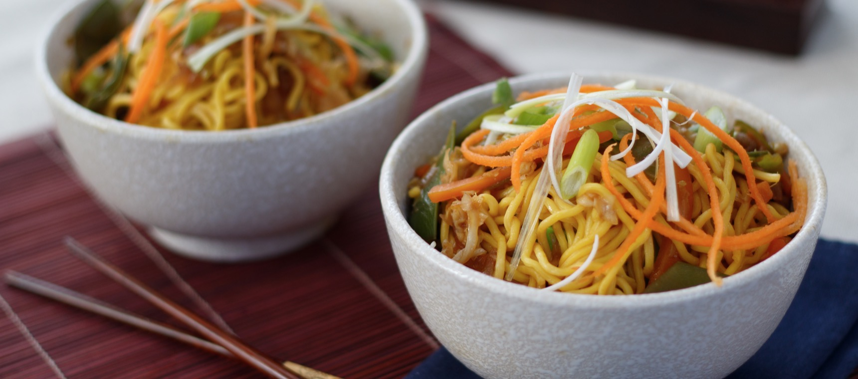 Vegetarian Chow Mein For Two