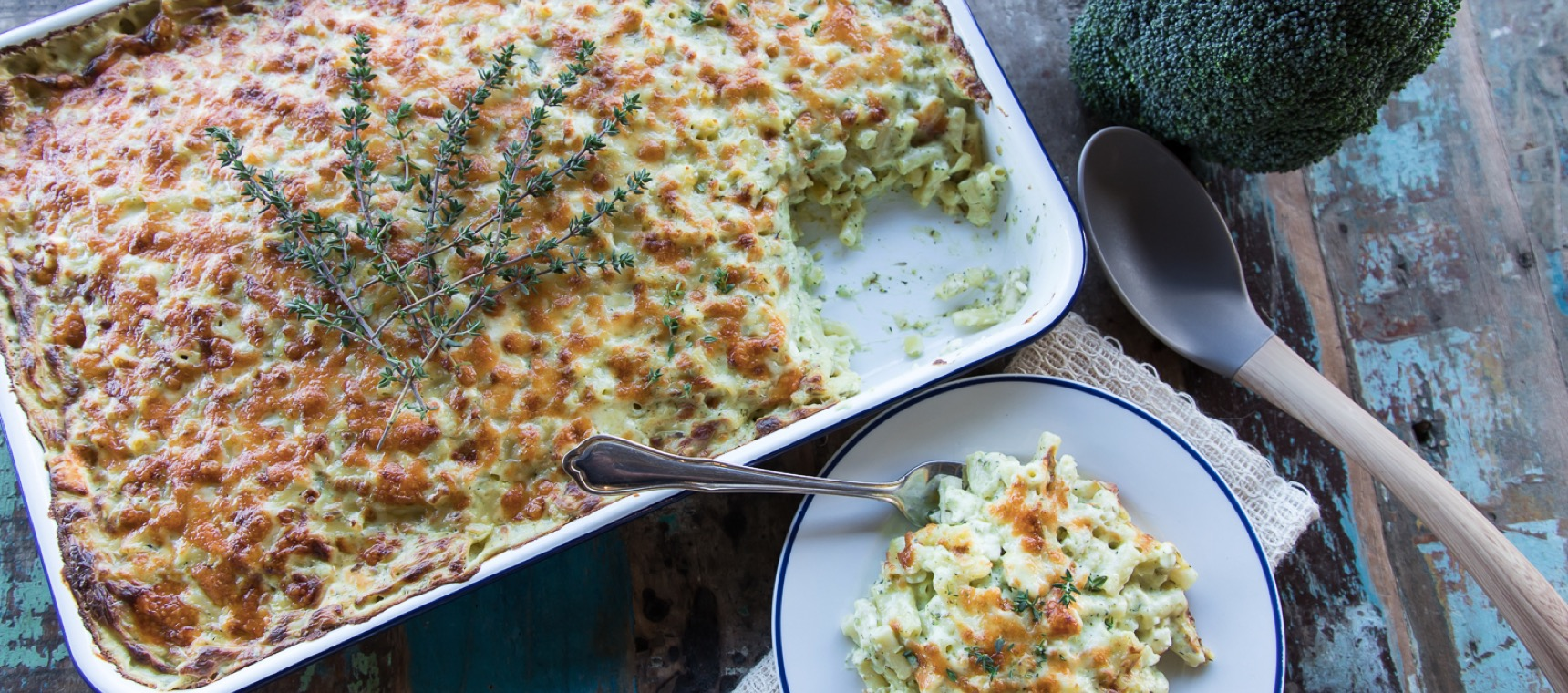Broccoli Mac and Cheese for a Crowd