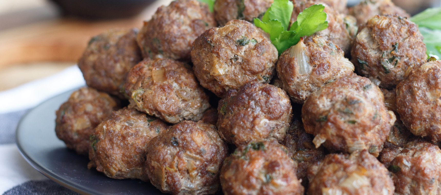 Caramelised Onion and Beef Meatballs