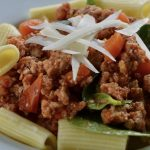 Chicken, Bacon and Spinach Bolognese