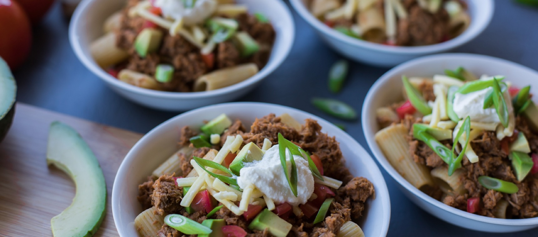 Fully Loaded Chunky Beef Chilli Pasta