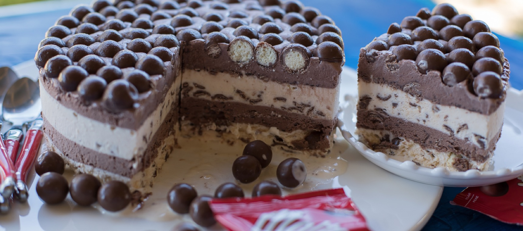 Layered Malteser™ Ice Cream Pie