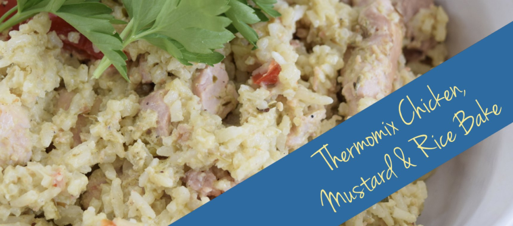 Thermomix Chicken, Mustard and Rice Bake