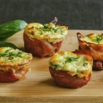 Low Carb Ricotta and Prosciutto Tarts
