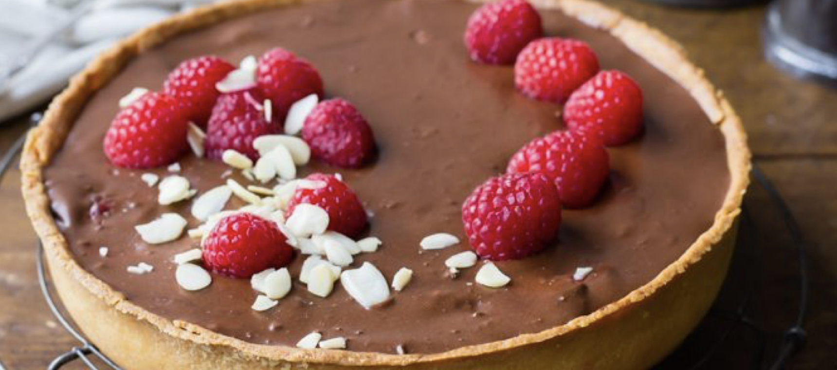 Raspberry Chocolate Tart