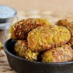 Vegan Veggie Nuggets with Herbed Coconut Dipping Sauce