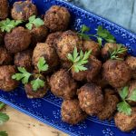Beef and Chorizo BBQ Meatballs
