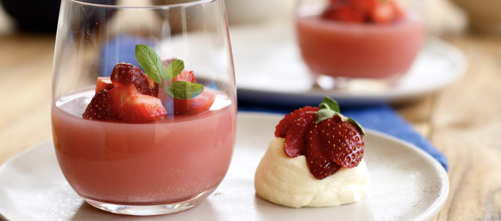 Dairy Free Strawberry Panna Cotta
