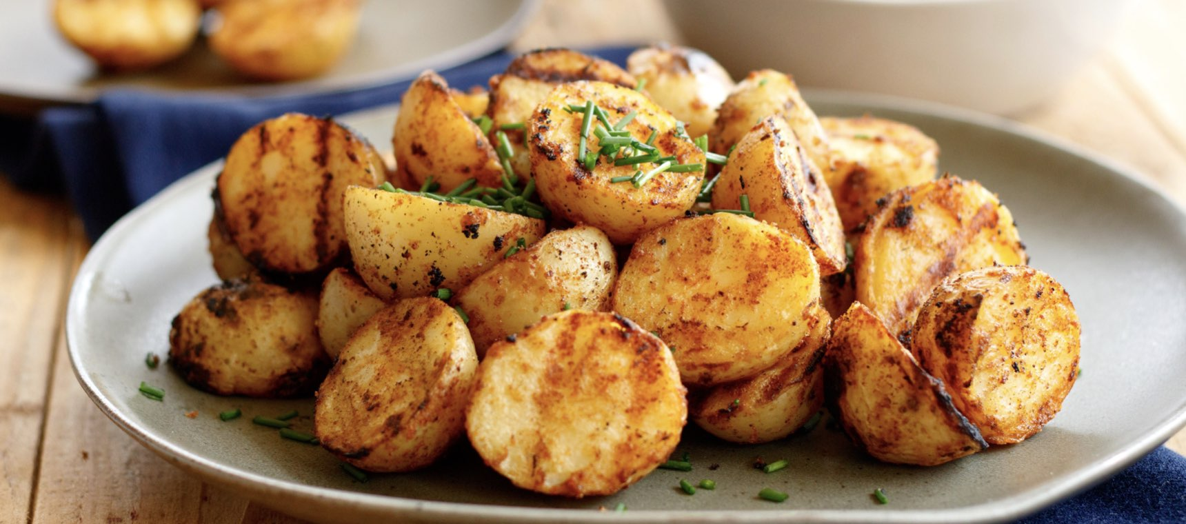 Grilled Potatoes with Ranch Sauce