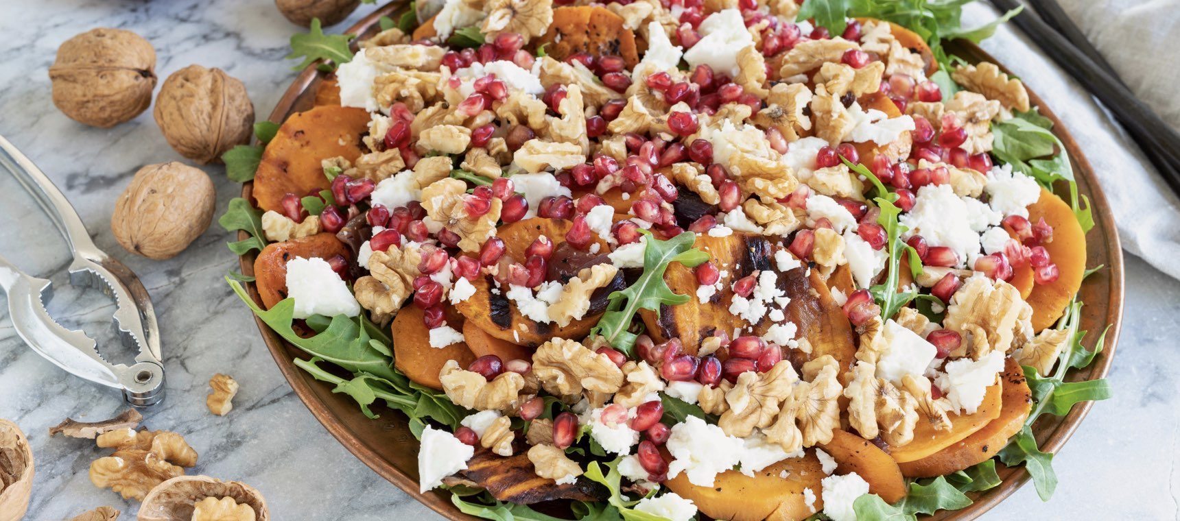 Grilled Sweet Potato and Walnut Salad