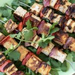 Grilled Tikka Tofu and Vegetable Kebabs