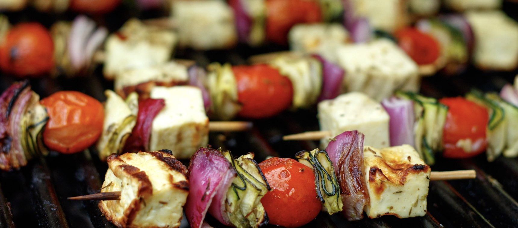 Mini Haloumi and Vegetable Kebabs